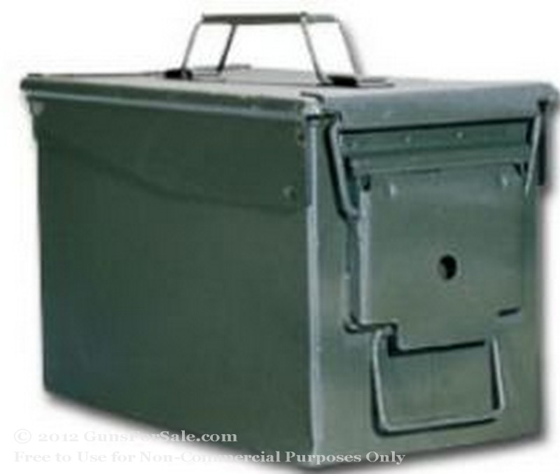Surplus 50 Cal Green Ammo Can - Used - 1