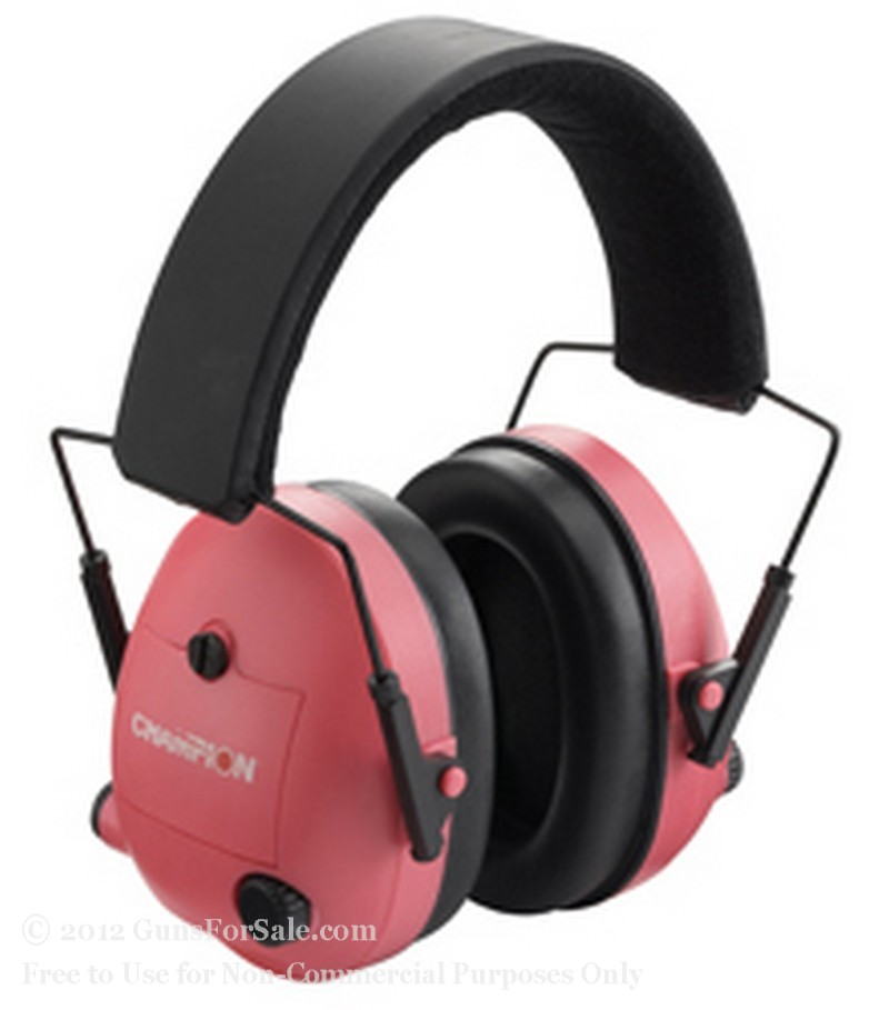 Earmuffs - Champion - Pink Electronic Earmuffs - 25 NRR - 1 Set
