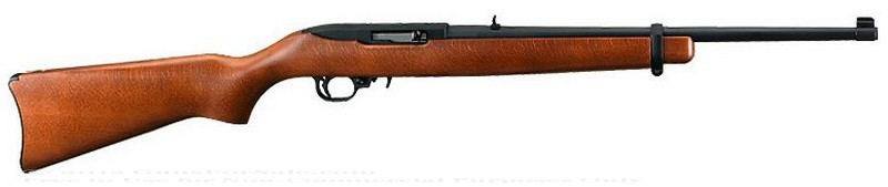 Ruger 10/22 Carbine - 22 LR - Birchwood Stock - 10 Rd Magazine - Adjustable Rear Sights