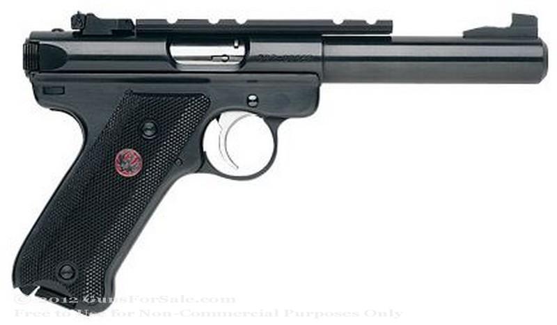 Ruger Mark III Target - 22 LR - Blued Finish - 10 Rd Magazine - Adjustable Rear Sights