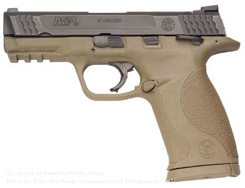"Smith & Wesson M&P45 - Dark Earth Brown - 45 ACP - 10 Rd Magazine - 4"" Barrel - Fixed Sights"