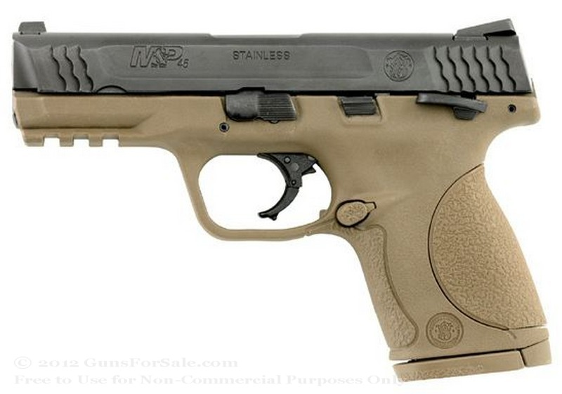 "Smith & Wesson M&P45c - Dark Earth Brown - Compact 45 ACP - 8 Rd Magazine - 4"" Barrel - Fixed Sights"