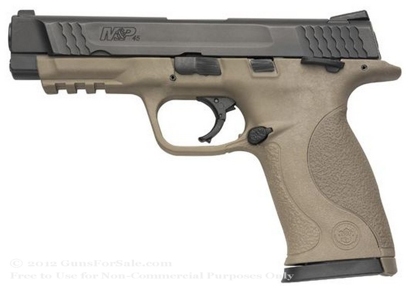 "Smith & Wesson M&P45 - Dark Earth Brown - 45 ACP - 10 Rd Magazine - 4.5"" Barrel - Night Sights"