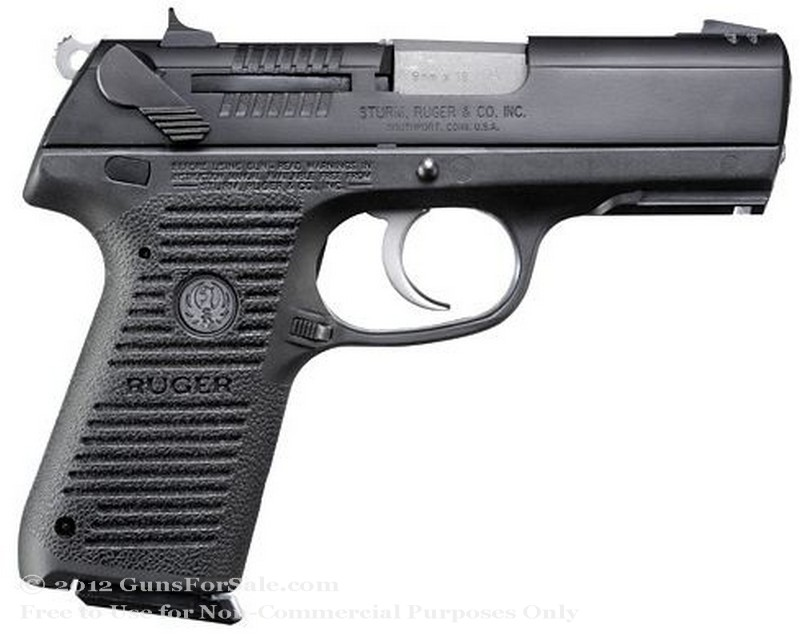 Ruger P95 - 9mm - Blued Finish - 15 Rd Magazine - Fixed Sights