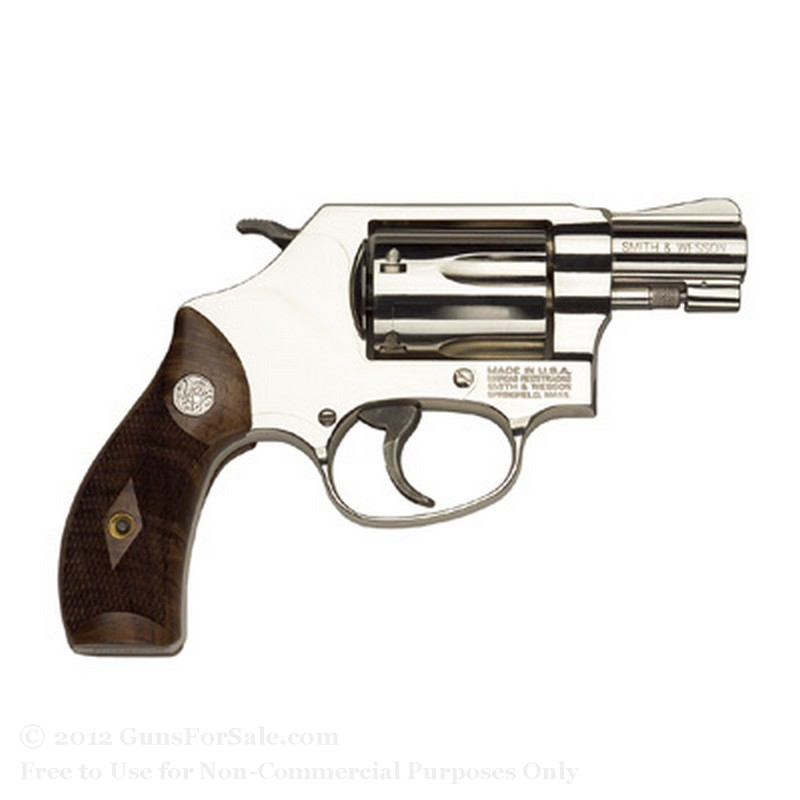 "Smith & Wesson 36 Revolver - 38 Special +P - 1.875"" Barrel - 5 Rd Capacity - Nickel Finish -  Fixed Sights"