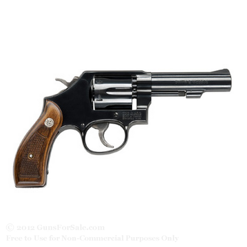 "Smith & Wesson 10 Revolver - 38 Special +P - 4"" Barrel - 6 Rd Capacity - Blue Finish -  Fixed Sights"
