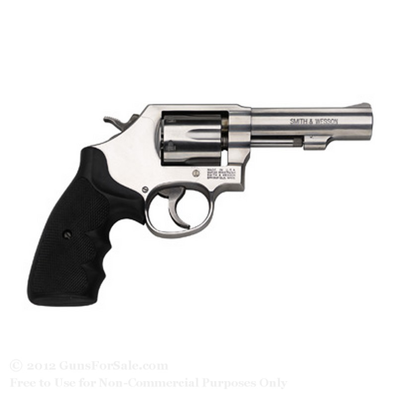 "Smith & Wesson 64 Revolver - 38 Special +P - 4"" Barrel - 6 Rd Capacity - Satin Stainless Finish -  Fixed Sights"