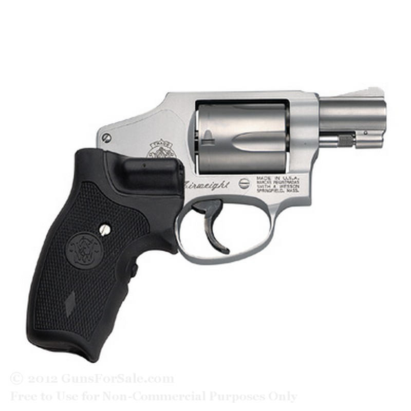 "Smith & Wesson 642 Revolver - Crimson Trace Lasergrip - 38 Special +P - 1.875"" Barrel - 5 Rd Capacity - Fixed Sights"