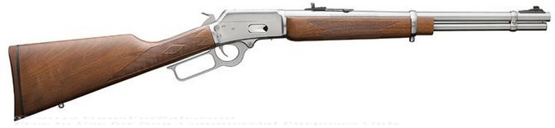 Marlin - 357 Mag/38 Special - Walnut Finished Stock - Stainless Steel - 9 Rd Tubular Magazine - Adjustable Sights