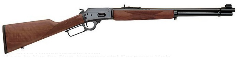 Marlin - 44 Mag/44 S&amp;W Special - Walnut Finished Stock - 10 Rd Tubular Magazine - Adjustable Sights