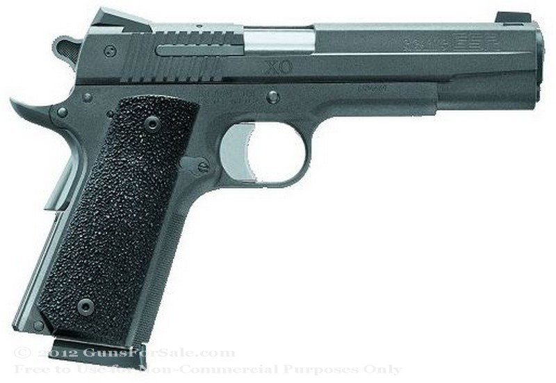 SIG SAUER 1911 XO Black - 45 ACP - XO Black Finish - 8 Rd Magazine - Novak Contrast Combat Sights