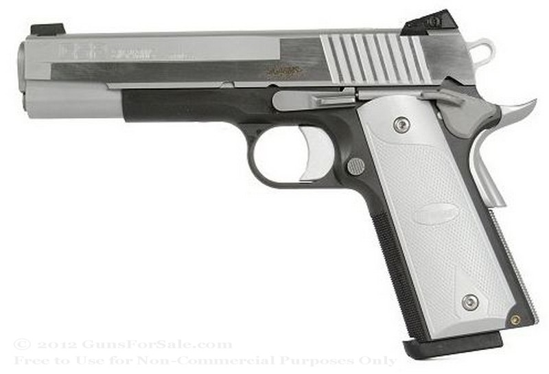 SIG SAUER 1911 Platinum Elite - 45 ACP - Two-Tone Stainless Steel - 8 Rd Magazine - Adjustable Combat Night Sights