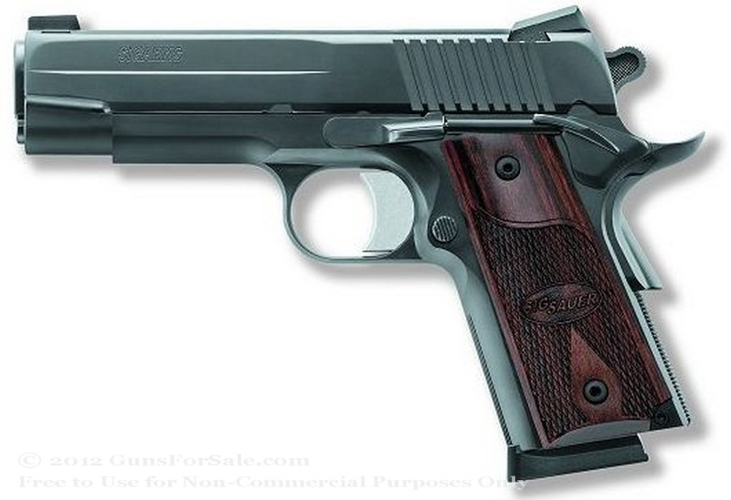 SIG SAUER 1911 RCS Nitron - 45 ACP - 7 Rd Magazine - Novak Night Sights