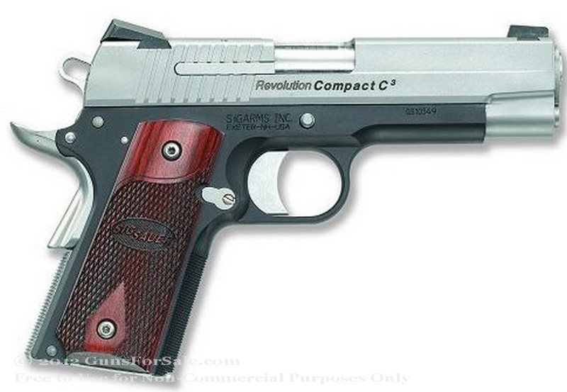 SIG SAUER 1911 RCS Two-Tone - 45 ACP - Stainless Steel - 7 Rd Magazine - Novak Night Sights