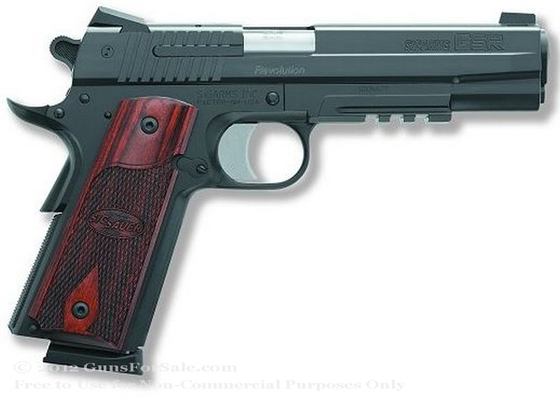 SIG SAUER 1911 Nitron Rail - 45 ACP - Nitron Finish - 8 Rd Magazine - Night Sights