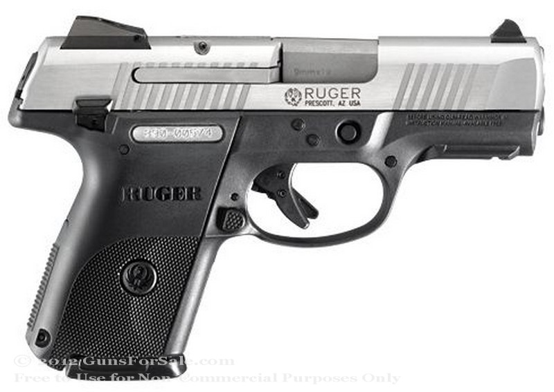 Ruger SR9c Pistol in 9mm - Stainless Steel Slide - 10 Rd Magazine - Adjustable Sights