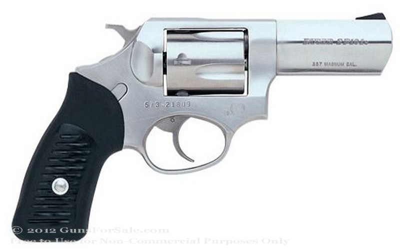 "Ruger SP101 - 357 Magnum - Stainless Steel Finish - 5 Rd - 3.06"" Barrel - Fixed Sights"