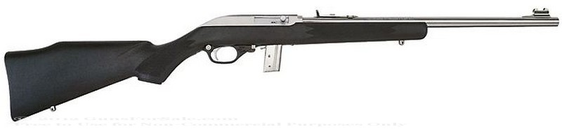 Marlin - 22 Long Rifle (LR) - Black Synthetic Stock - Stainless Steel Barrel - 10 Rd Magazine - Adjustable Sights