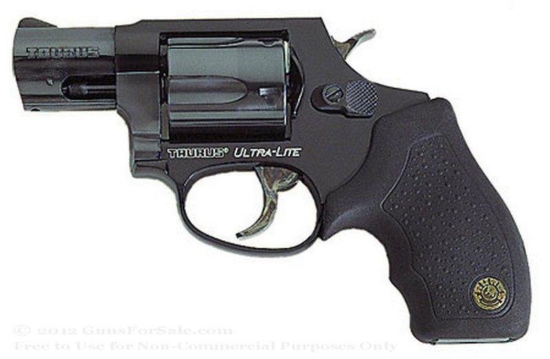 "Taurus Ultra-Lite 85 Snubnose Revolver - 38 Spl +P - 2"" Barrel - Rubber Grips- 5 Round Capacity - Fixed Sights"