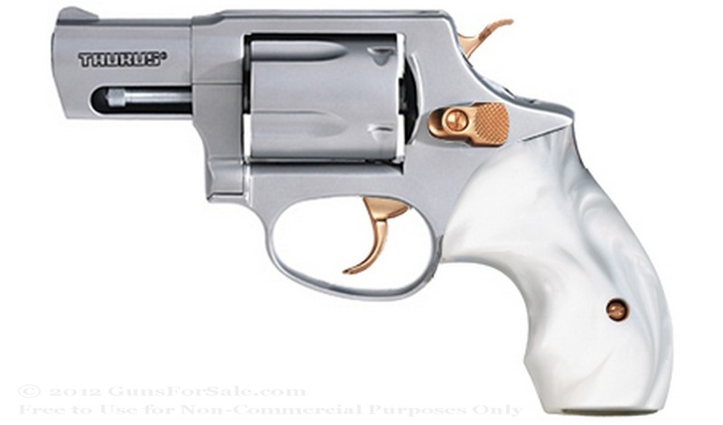 "Taurus 85 Snubnose Revolver - 38 Spl +P - 2"" Barrel - Stainless Steel with Pearl Grips - 5 Round Capacity - Fixed Sights"