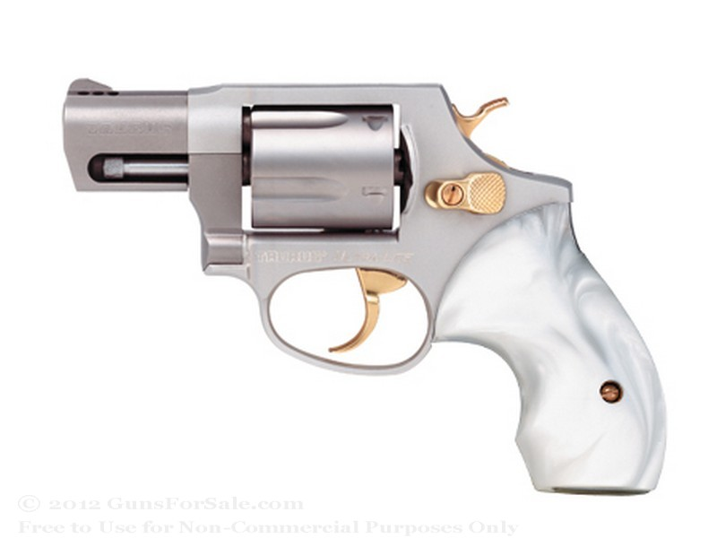 Taurus 85 Ultra-Lite Snubnose Revolver - 38 Spl +P - 2&quot; Barrel - Stainless Steel with Pearl Grips - 5 Round Capacity - Fixed Sights