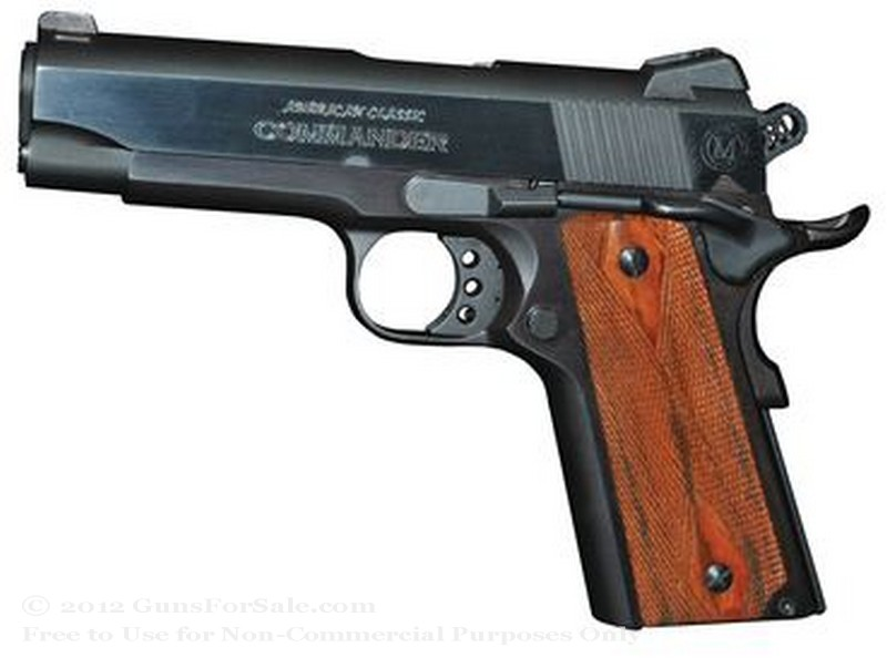 American Classic Commander 1911 - 45 ACP - Black - 8 Rd Magazine - Novak Rear Sight