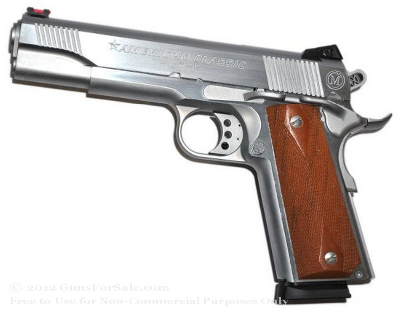 American Classic Trophy 1911 - 45 ACP - Hard Chrome - 8 Rd Magazine - Novak Rear Sight
