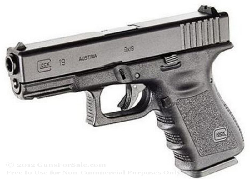 Glock 19 - Compact 9mm - Black - 15 Rd Magazine - Fixed Sights