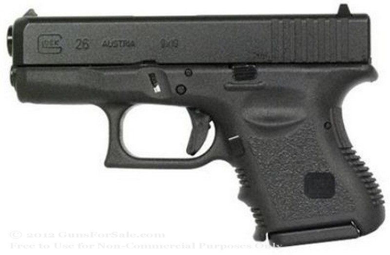 Glock 26 - Sub Compact 9mm - Black - 10 Rd Magazine - Fixed Sights