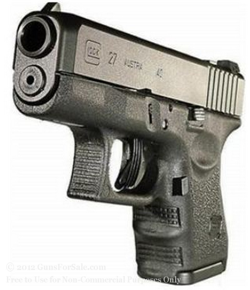 Glock 27 For Sale Black 40 S W Glock With 9 Round Magazine