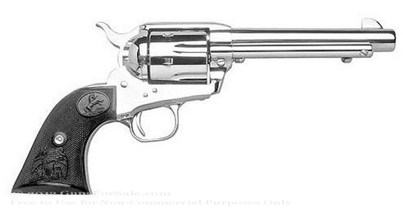 "Colt Single Action Army Revolver - 357 Magnum - Nickel Finish - 7.5"" Barrel - Fixed Sights"