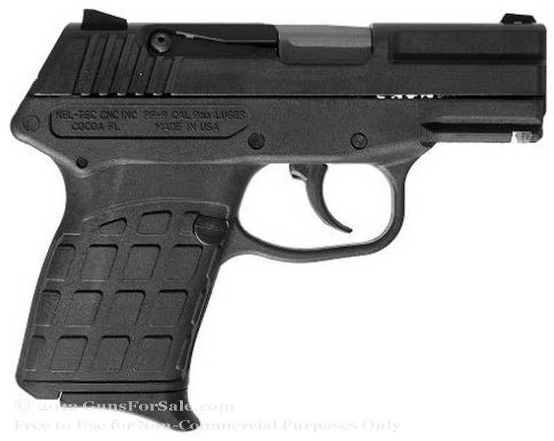 Kel-Tec PF9 - 9mm - Blued Finish - 7 Rd Magazine - Adjustable Rear Sights