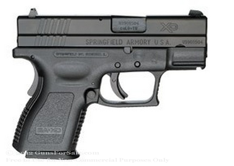 Springfield XD - Sub Compact 40 S&W - Black - 9 and 12 Rd Magazines - Fixed Sights