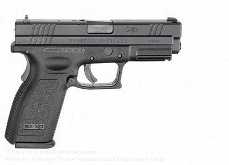 "Springfield XD - 4"" Service Model - 40 S&W - Black - 12 Rd Magazine - Fixed Sights - Essential Package"