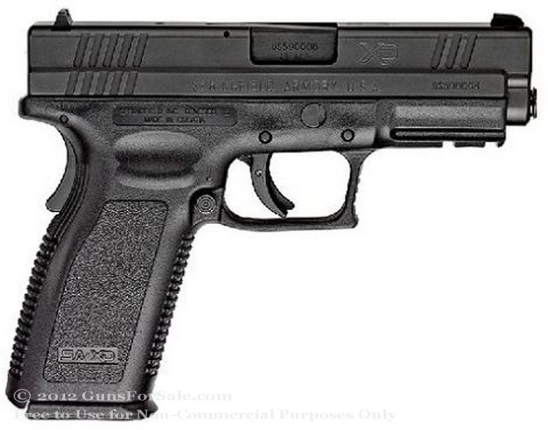 "Springfield XD - 4"" Service Model - 45 ACP - Black - 13 Rd Magazine - Fixed Sights"