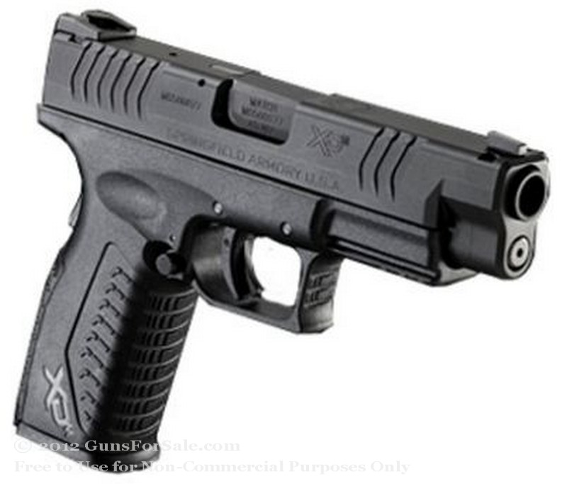 "Springfield XD M Factor - 4.5"" 45 ACP - Black - 13 Rd Magazine - Fixed Sights"