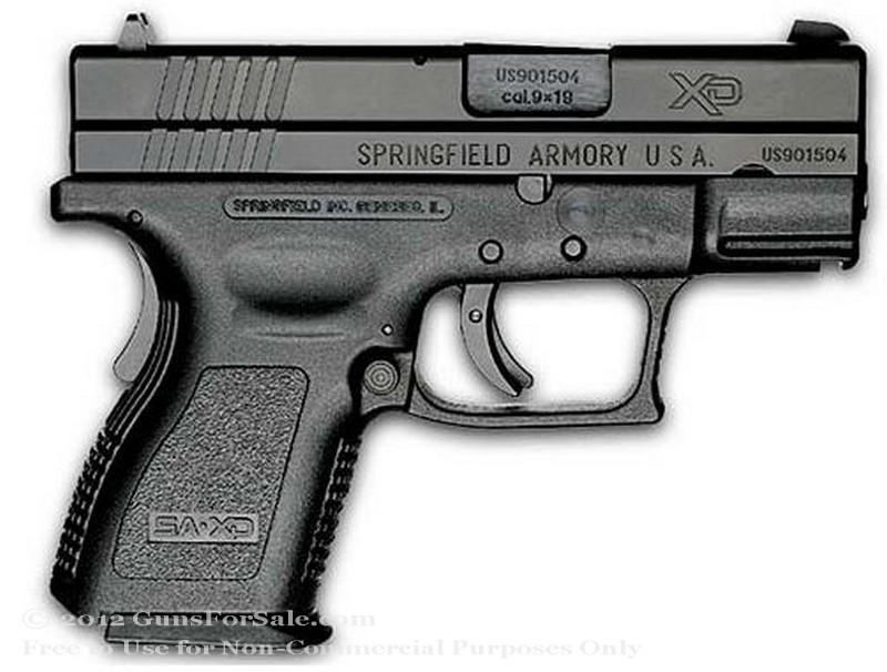 Springfield XD - Sub Compact 9mm - Black - 10 and 16 Rd Magazines - Fixed Sights