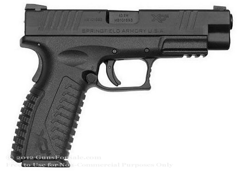 "Springfield XD M Factor - 4.5"" 40 S&W - Black - 16 Rd Magazine - Fixed Sights"