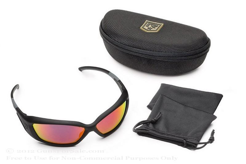 Revision Hellfly Glasses - Matte Black Frame - Flame Mirror Lens - 1 Pair