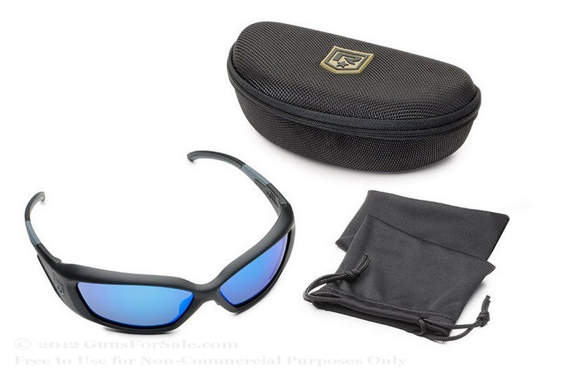 Revision Hellfly Glasses - Matte Black Frame - Midnight Mirror Lens - 1 Pair