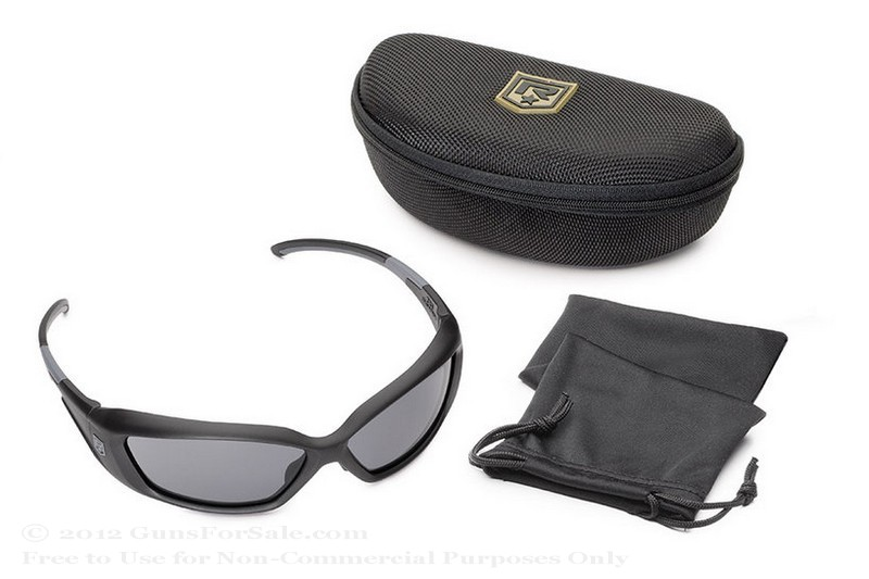 Revision Hellfly Glasses - Black Frame - Smoke Lens - 1 Pair