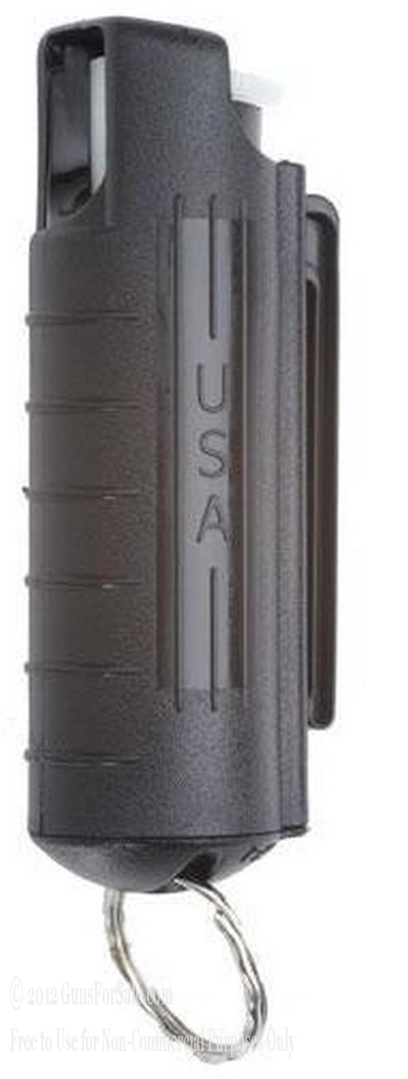Mace - 10% Pepper Spray - Hard Key Case with Key Ring - Black - 1
