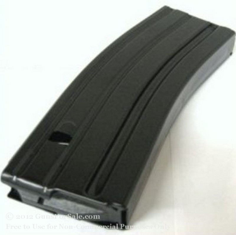C-Products AR-15 223 30 Round Black Teflon Finish Stainless Steel Magazine - 1