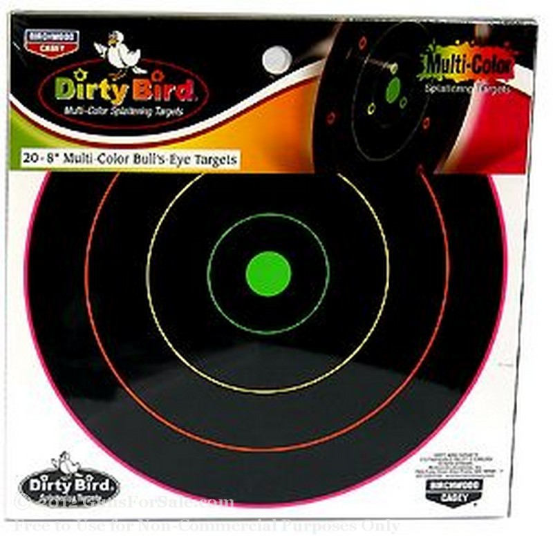 "Birchwood Casey 8"" Multi Color Dirty Bird Targets - 20"