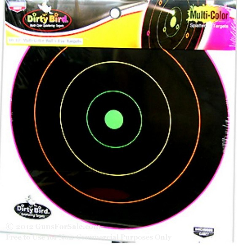 "Birchwood Casey 12"" Multi Color Dirty Bird Targets - 10"