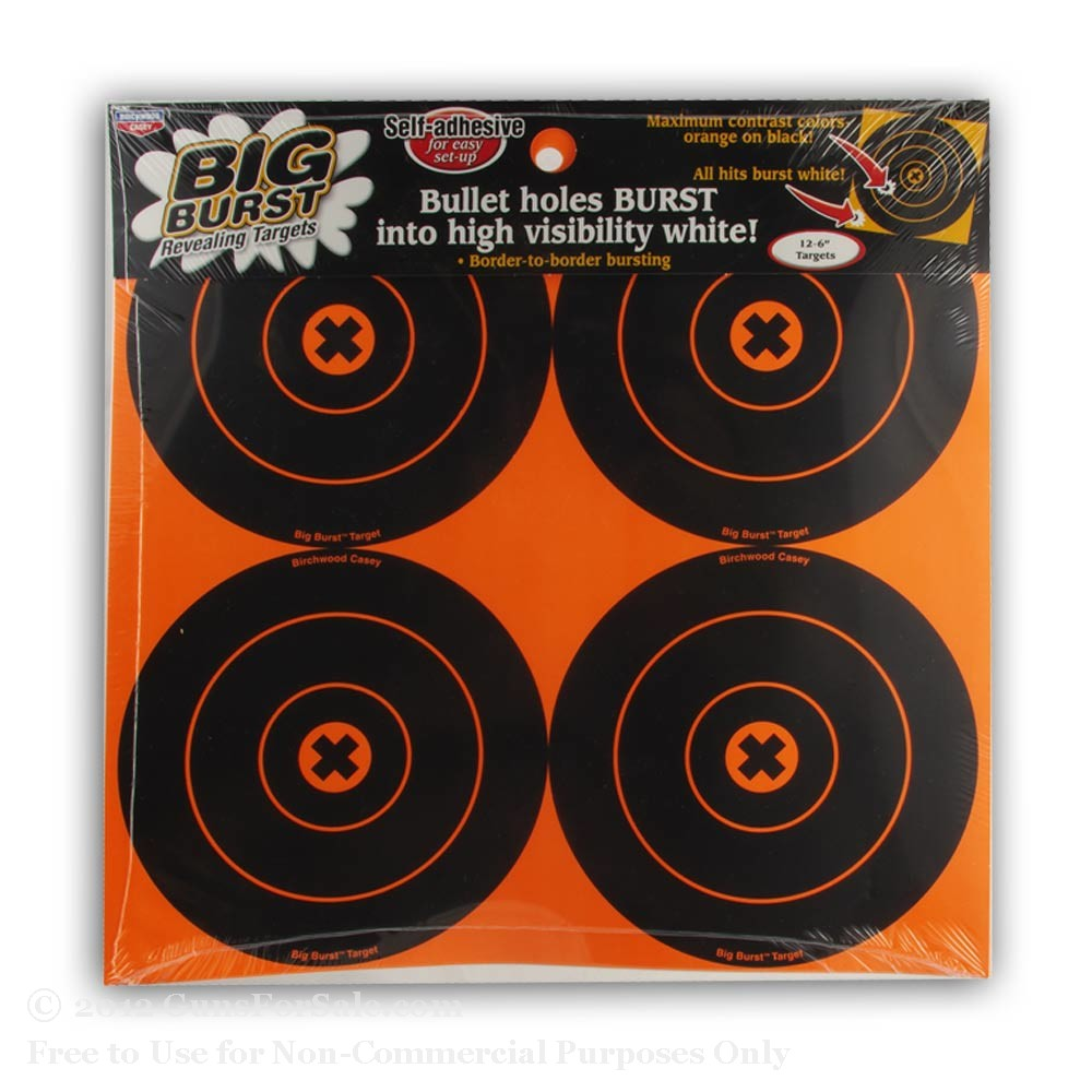"Birchwood Casey 6"" Big Burst Targets - 12"