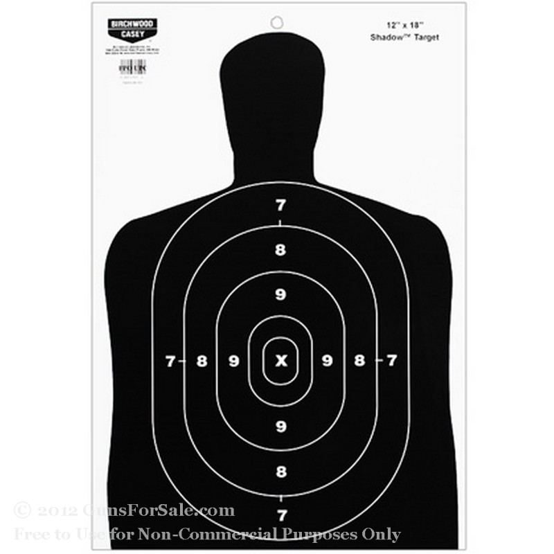 Birchwood Casey Black BC27 Paper Silhouette Targets - 10