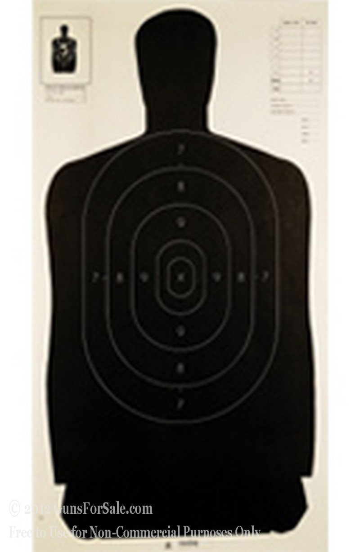 Champion Black B27 Paper Silhouette Targets - 100