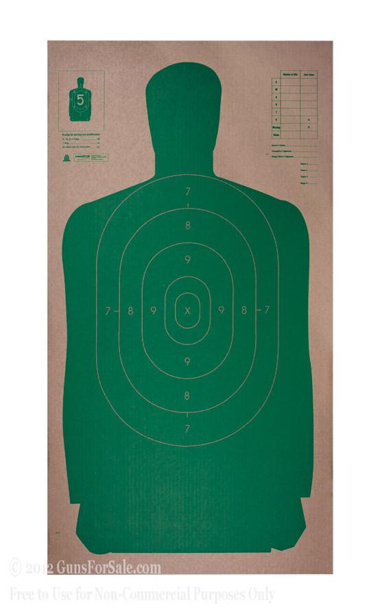 Champion Green B27 Cardboard Silhouette Targets - 25
