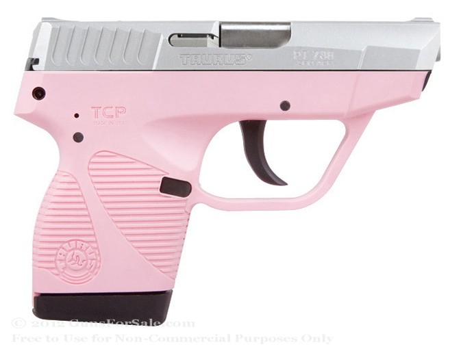 Taurus 738 TCP Stainless Steel and Pink .380 ACP Pistol